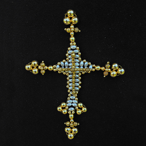 Intermediate Treflee Cross With Rose Of Mary Small